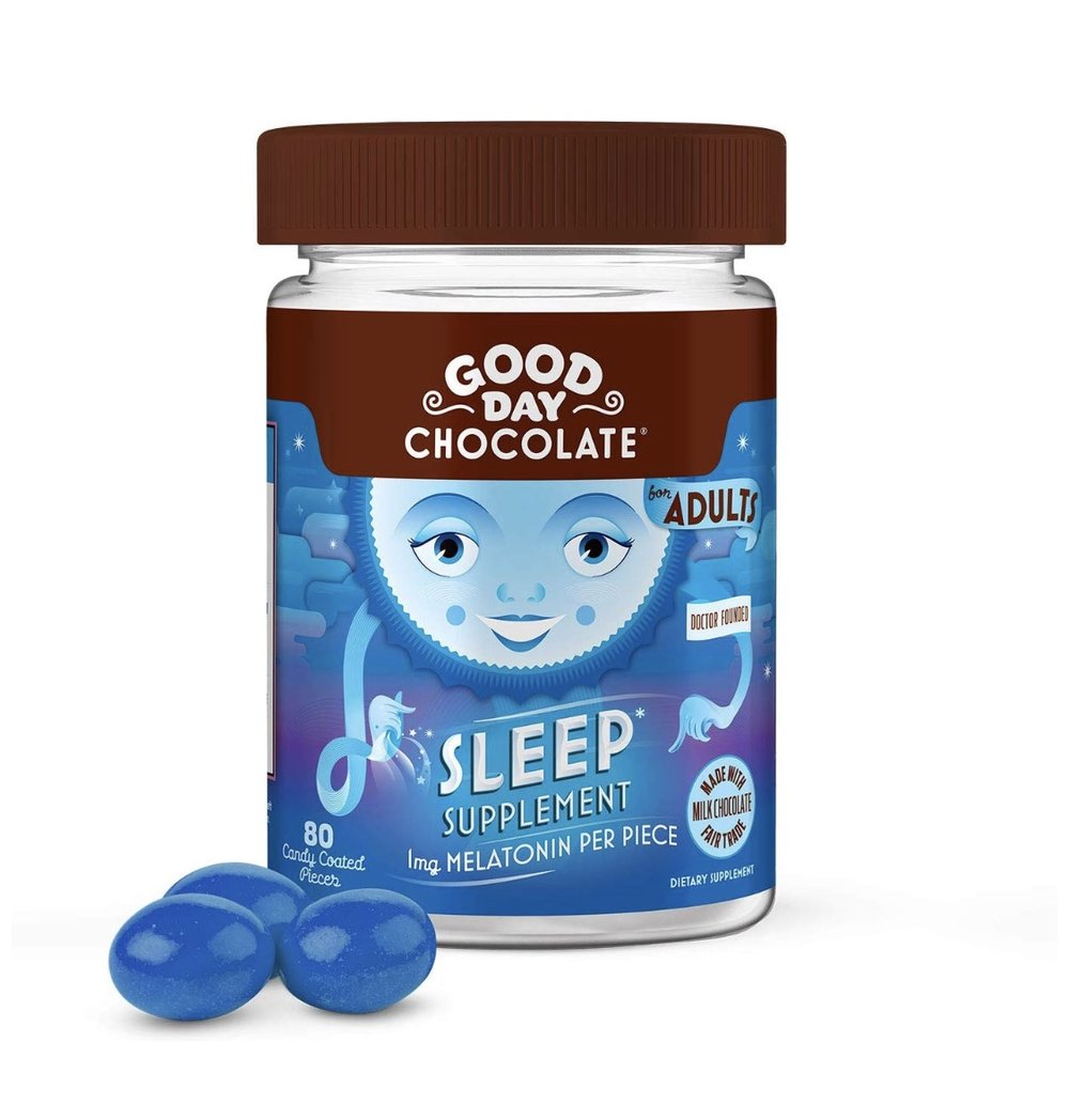 2 of Good Day Chocolate Melatonin Supplement, Natural Sleep Aid (80 Count)