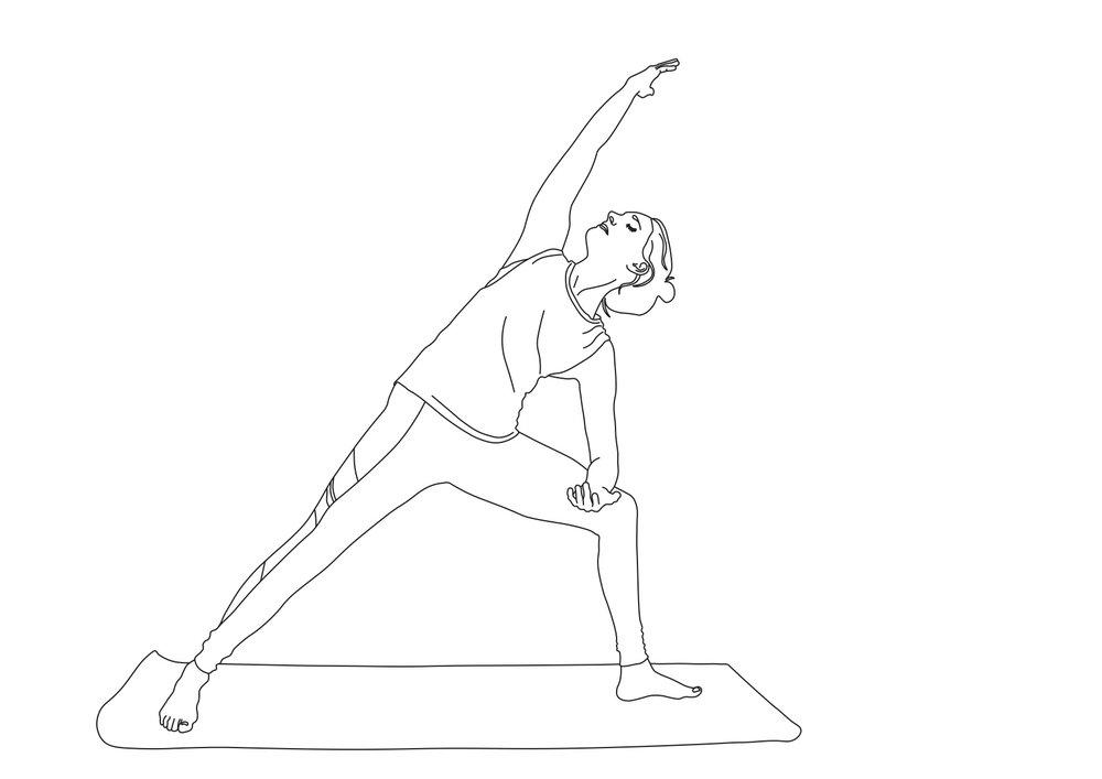 My Yoga girl illustration