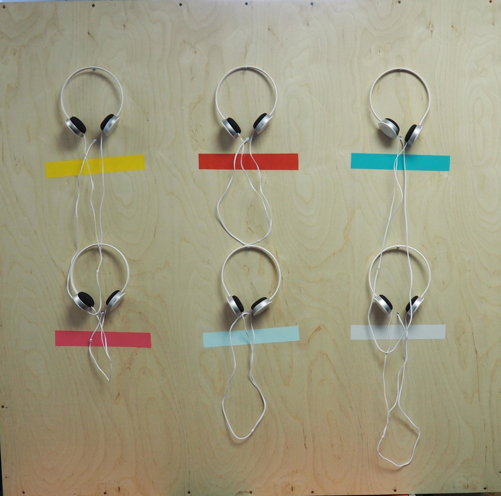 We used the audio tracks to make an installation, the different colours symbolise different mental illnesses.