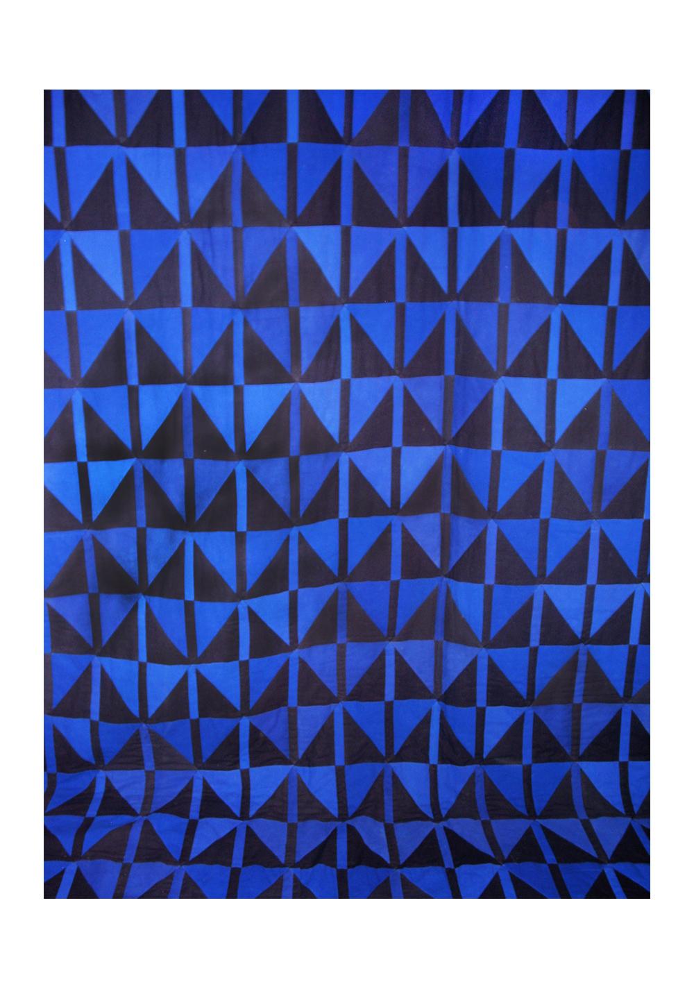 """Quilt, detail """"Triangel"""" 1995,"""