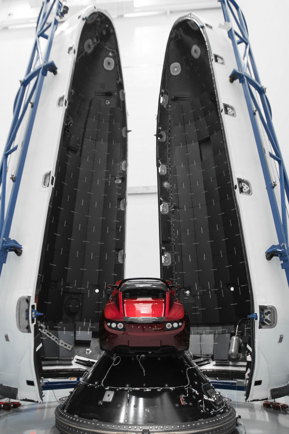 Elon Musk's Tesla Roadster, launched into orbit in the SpaceX Falcon Heavy rocket, February 2018