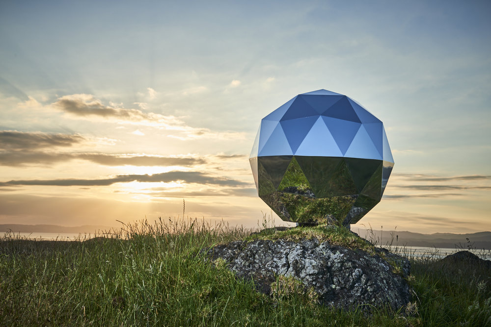 Humanity Star , the geodesic sphere satellite launched by Rocket Lab at Mahia Peninsula, New Zealand, 21 January 2018