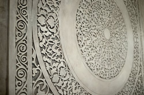 oriental bas relief dia art design