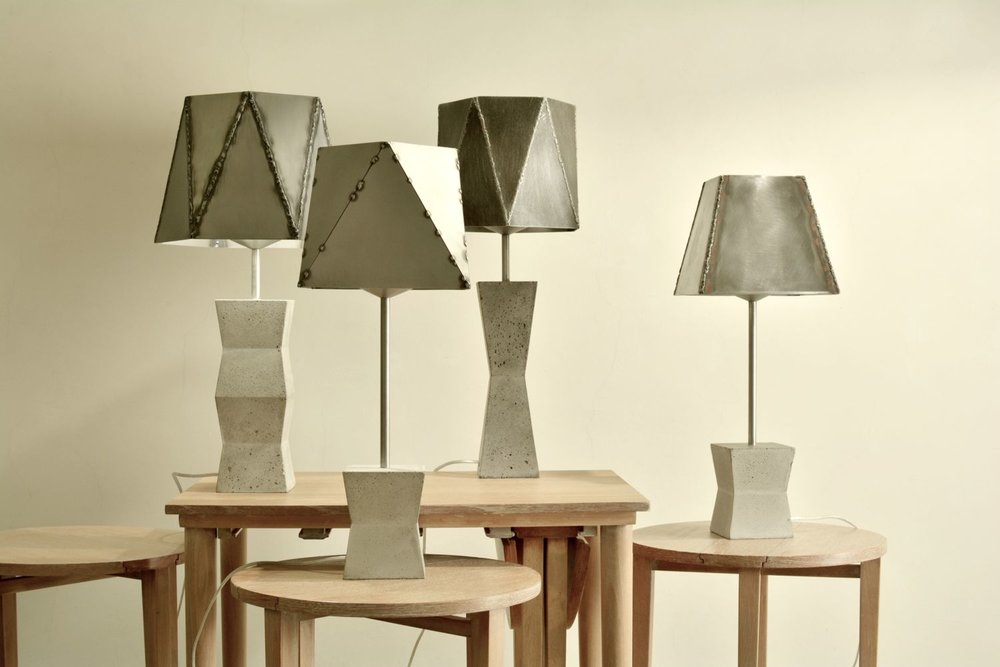 Fossil table lamps collection