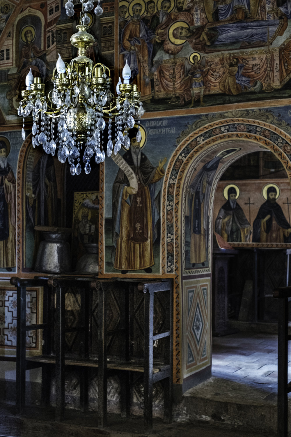 Iconostasis and Chandelier, Preobrazhenski Monastery