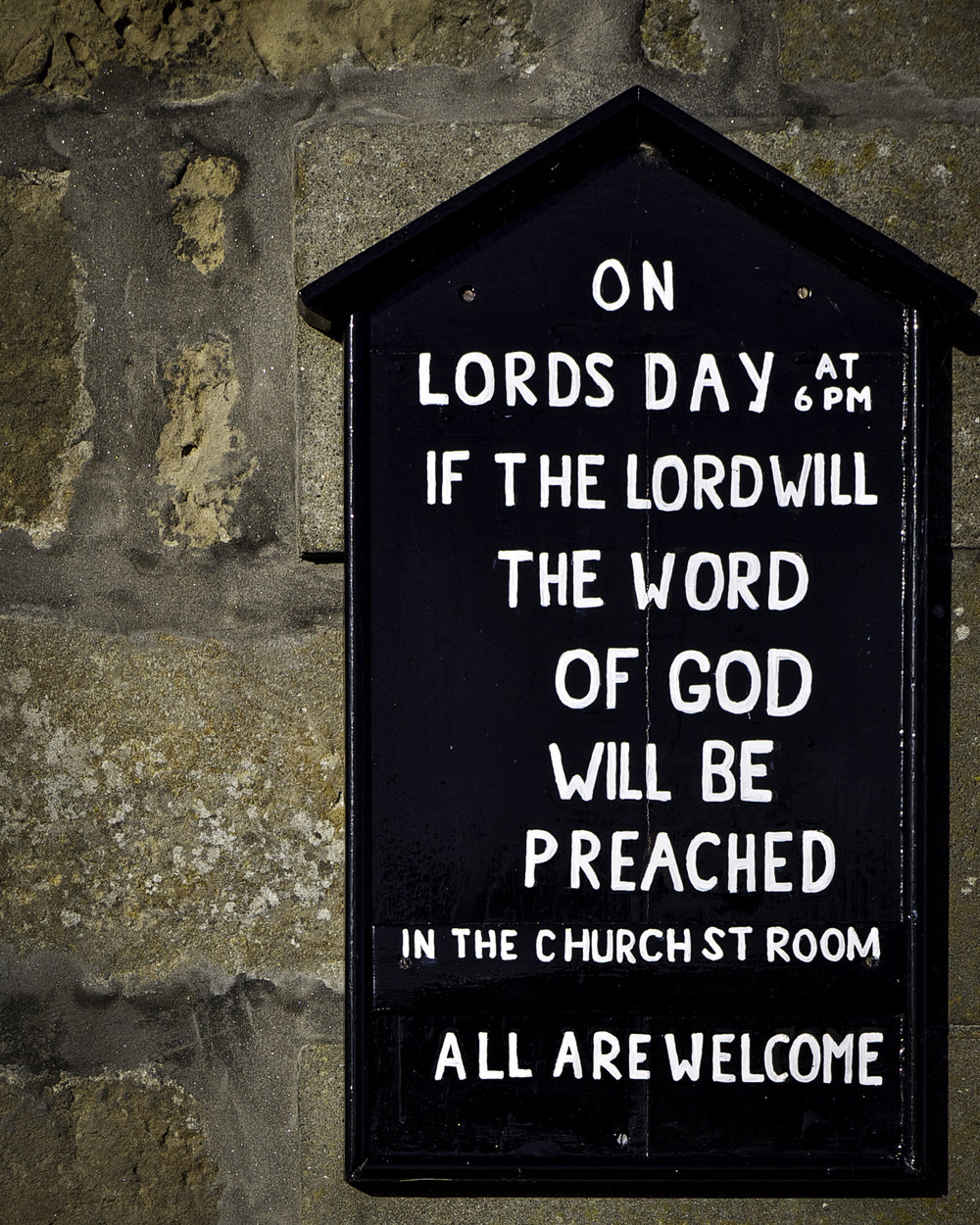 If the Lord Will...