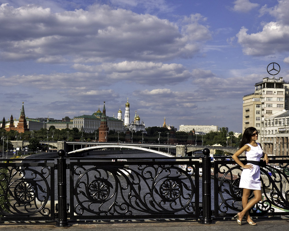 Kremlin, Moscow River, Foreground Interest