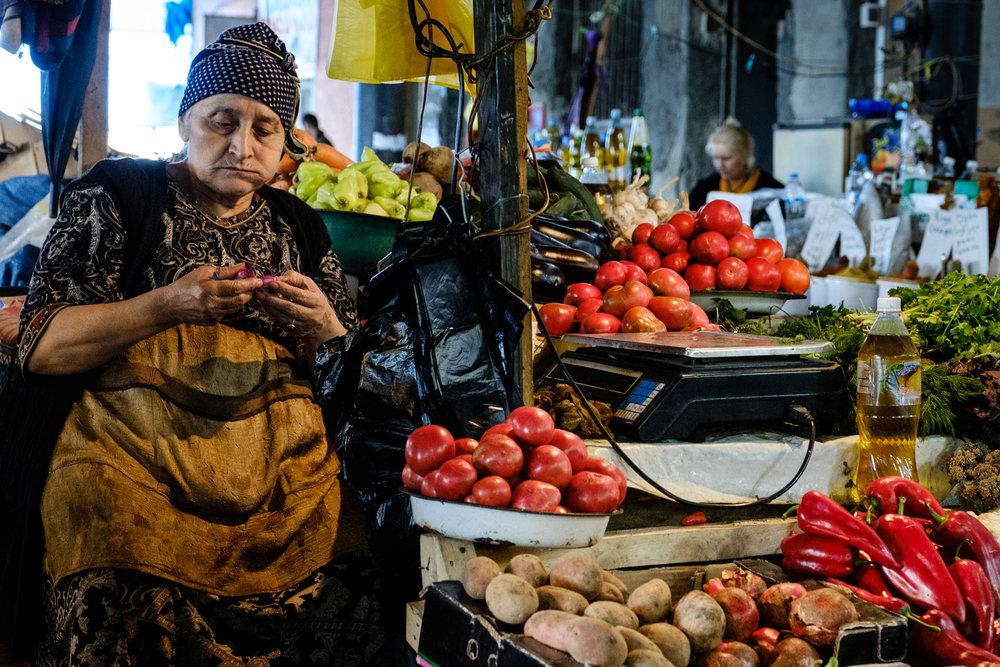 Quality Control, Telavi Market, Kakheti