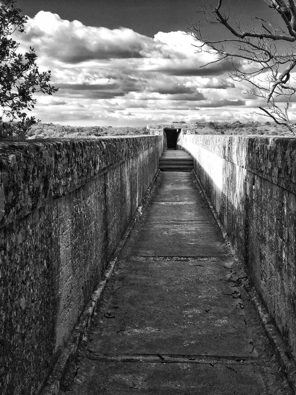 le pont du Gard, rive droite