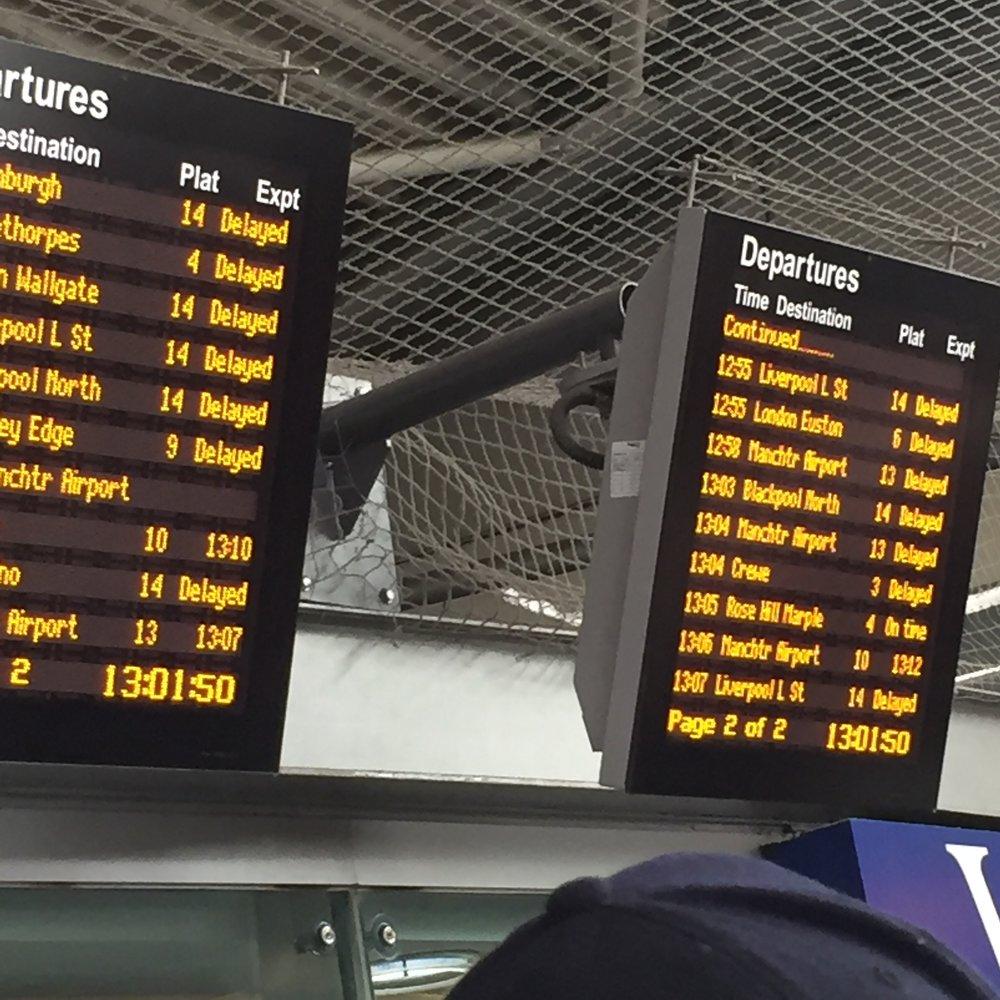 Everything delayed!