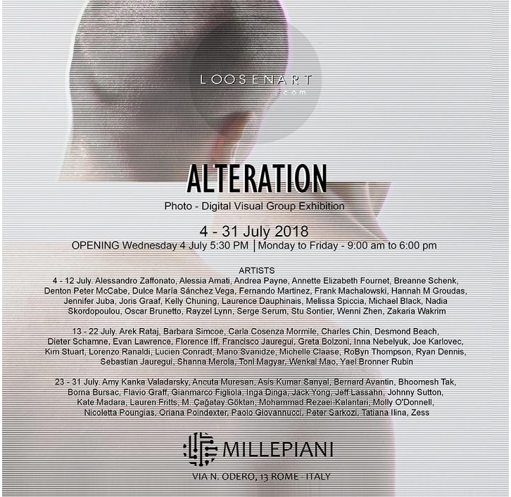ALTERATION: ERRORS, MANIPULATIONS, AND CHANGING PROCESSES - Exhibited works: The Shortest Distance between two PointsMillepiani Exhibition Space - Rome, ItalyJuly 4 - July 31 2018