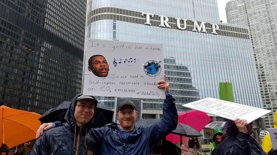 At the People's Climate March of April 2017 in Chicago