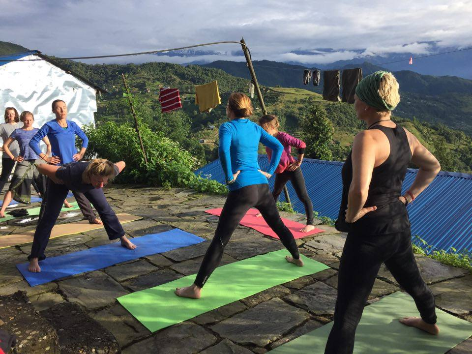 Outdoor yoga and meditation