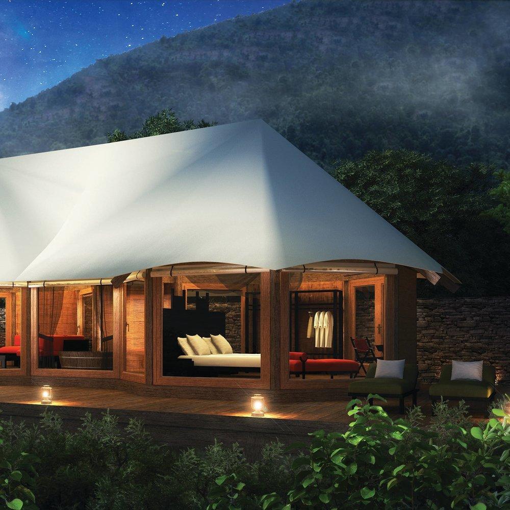 Luxury eco-tented-villa