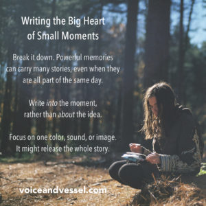 Writing the Big Heart of Small Moments
