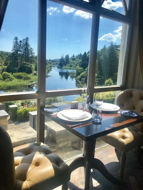 Breakfast views at Ballynahinch Castle