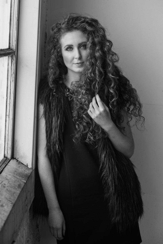 Lorna Ryan San Francisco Model Blogger Photoshoot Portrait NYFW B&W