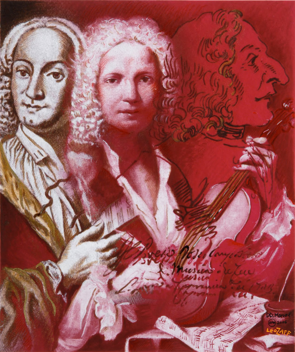 Artwork for the cover of a program for a concert of Vivaldi's music held in Geelong (Victoria), Australia. (created by Leopoldo Zaffalon, 2012)