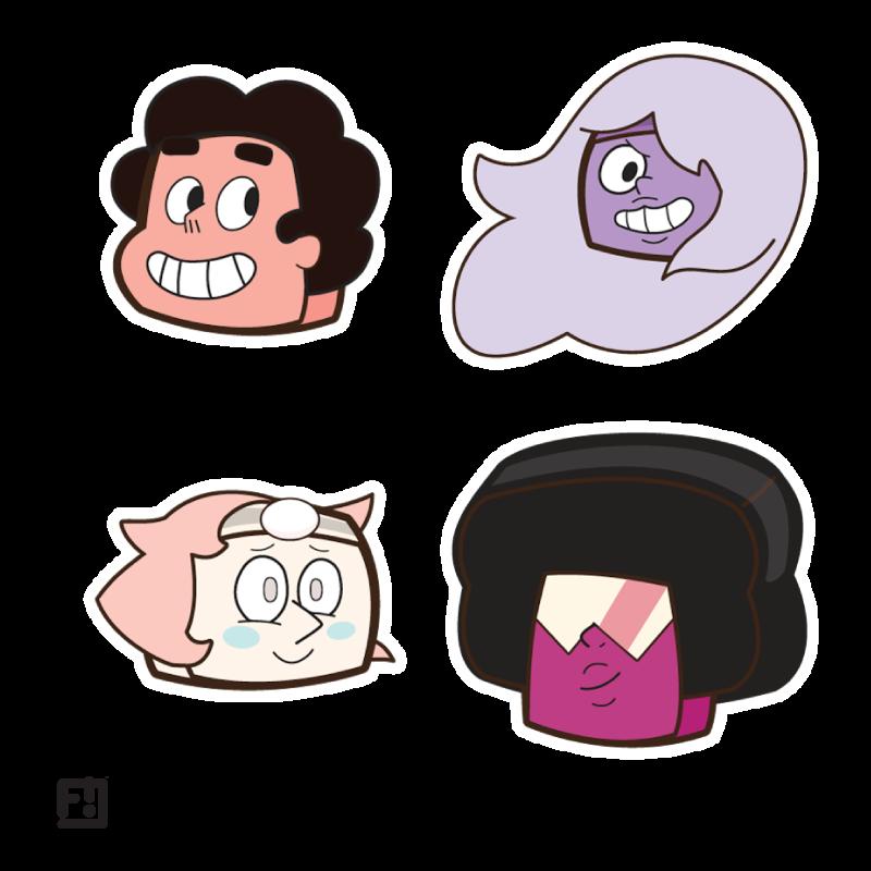 Steven Universe Boxheadz Stickers