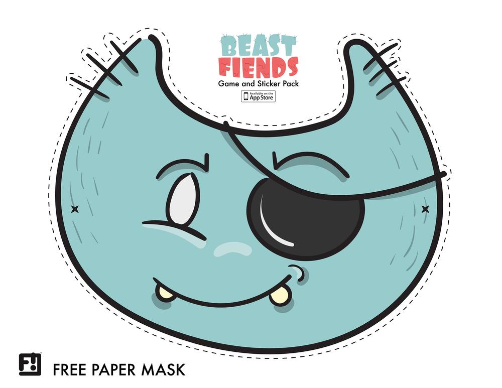 Beast Fiends Paper Mask 1