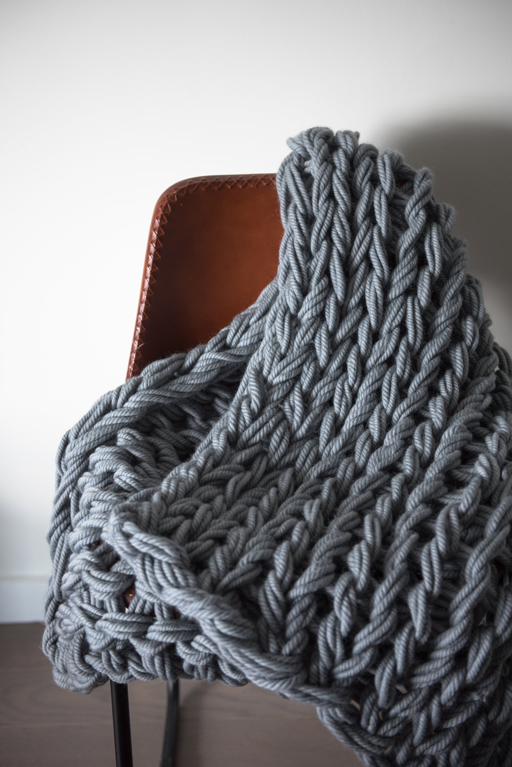 Chunky Hand Knit Bed Runner — Creating Comfort Lab