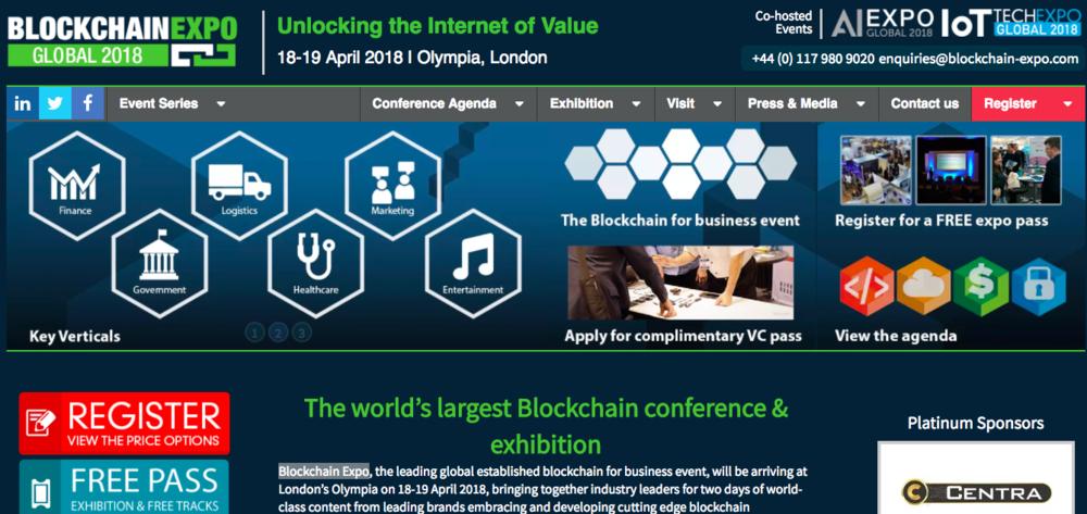 出典: Blockchain Expo 2018