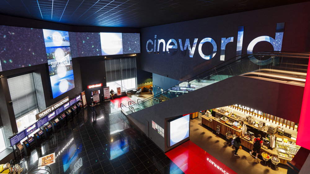 イギリス大手映画館チェーン、シネワールド( Cineworld )。出典: Chapman Taylor