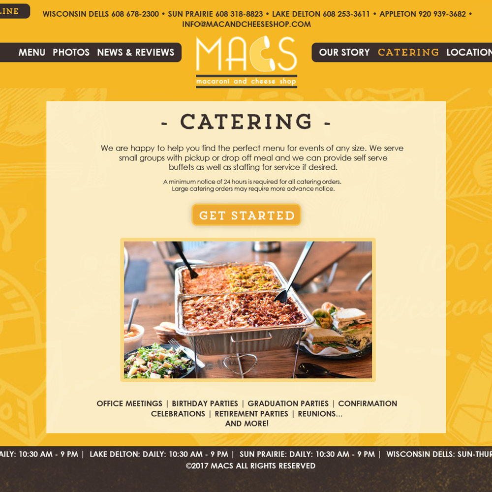 M.A.C.S. Catering Website