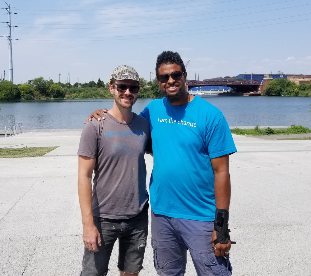 Floating Museum co-founders: Jeremiah Hulsebos-Spofford & Faheem Majeed