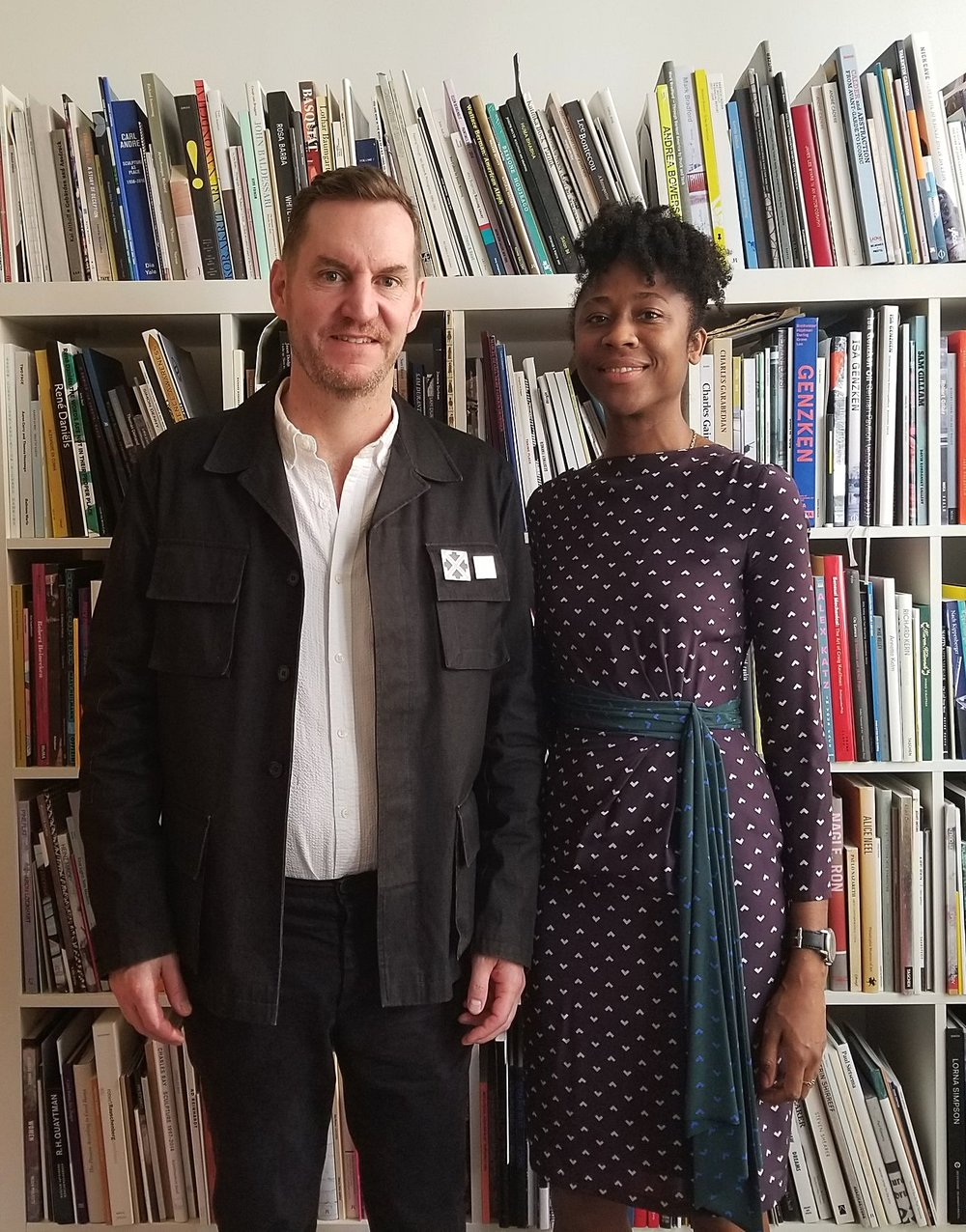 MCA chief curator Michael Darling and MCA curator Naomi Beckwith