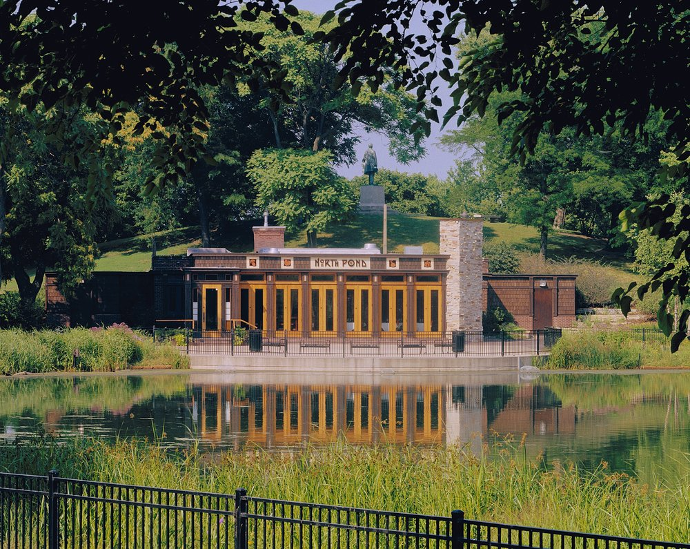 Lincoln Park's picturesque NORTH POND is also highlighted