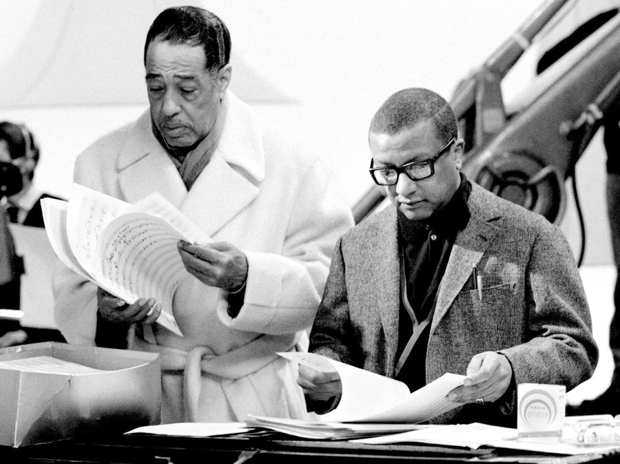 Duke Ellington and Billy Strayhorn working on a composition