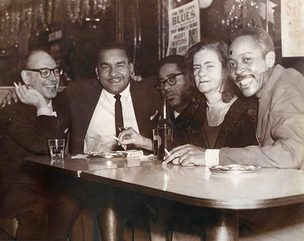 Frand Sandiford, McKie Fitzhugh, Dizzy Gillespie, Gertrude Abercrombie, Sonny Stitt, 1961, McKie's Disc Jockey Lounge, Chicago IL