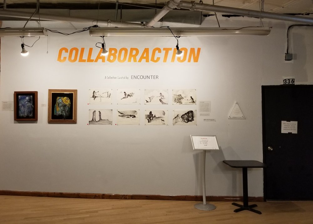 Collaboraction's lobby space inside the Flat Iron Arts Building
