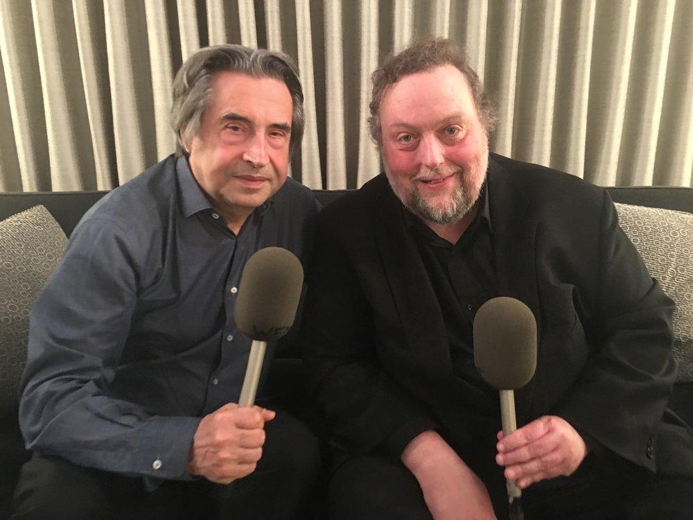 The CSO's Riccardo Muti & Newcity music critic Dennis Polkow