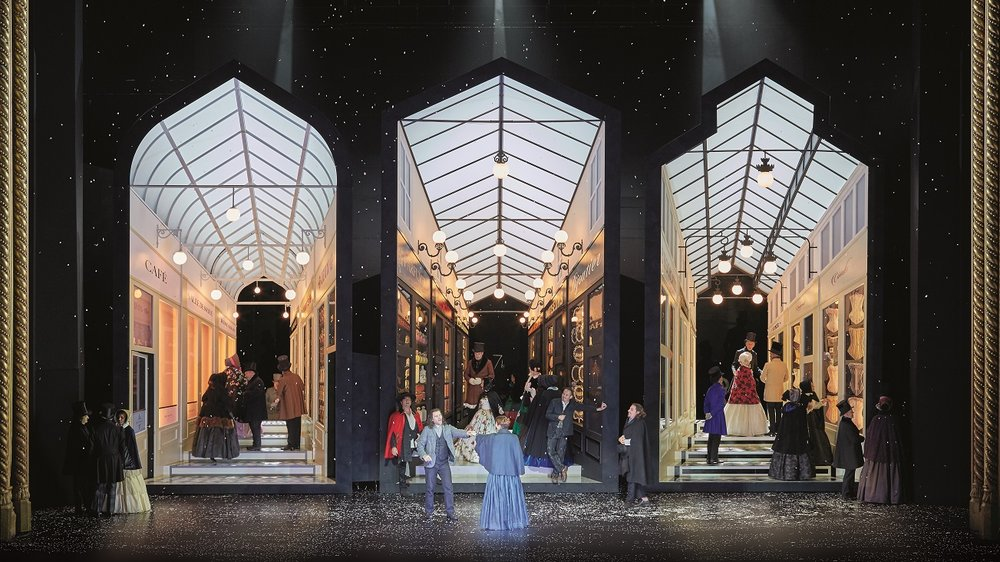 Image of new production of La Boheme, courtesy of Royal Opera House from Stefany Phillips