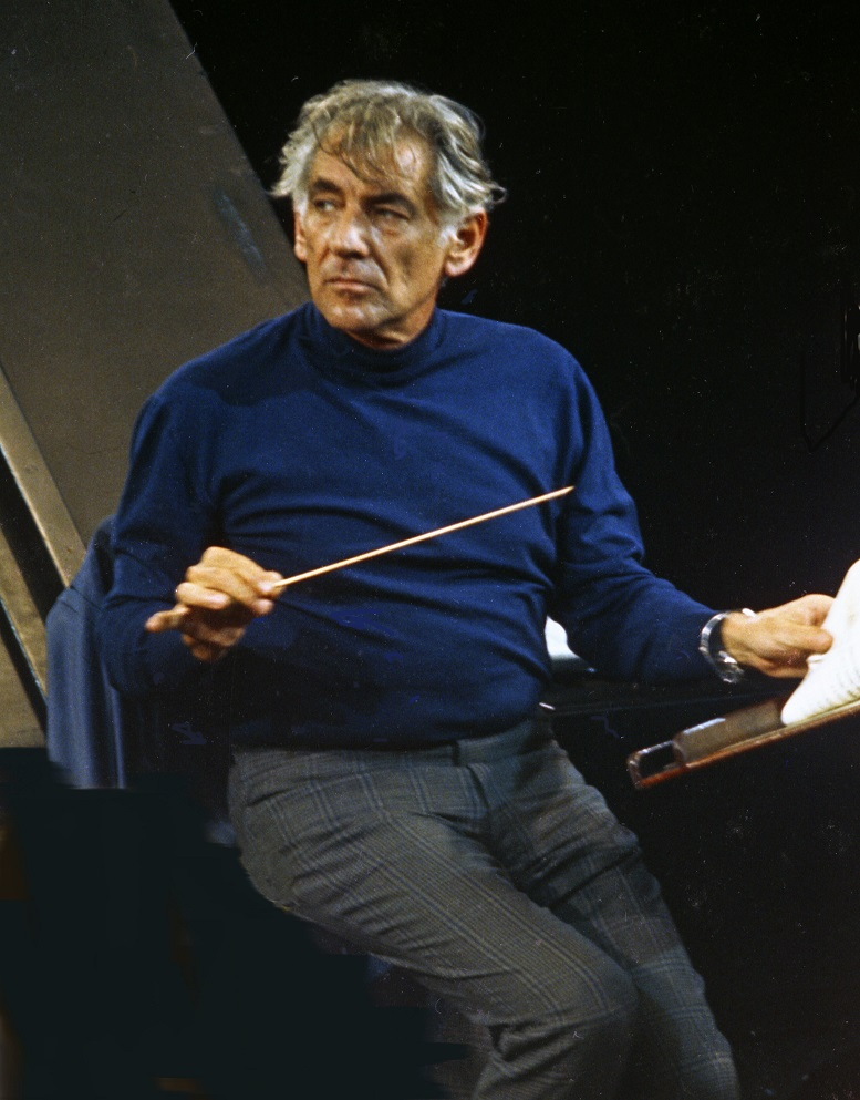 Leonard Bernstein, 1973. Photo by Allan Warren