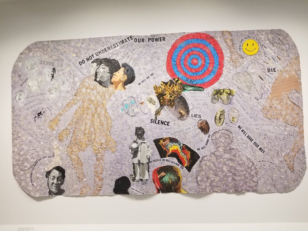 Autobiograpgy: Scapegoat,  Howardena Pindell, 1990