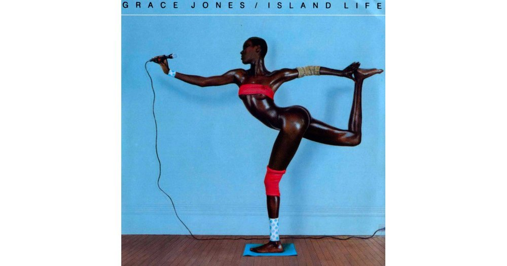 Grace Jones' 1985 Island Life album cover