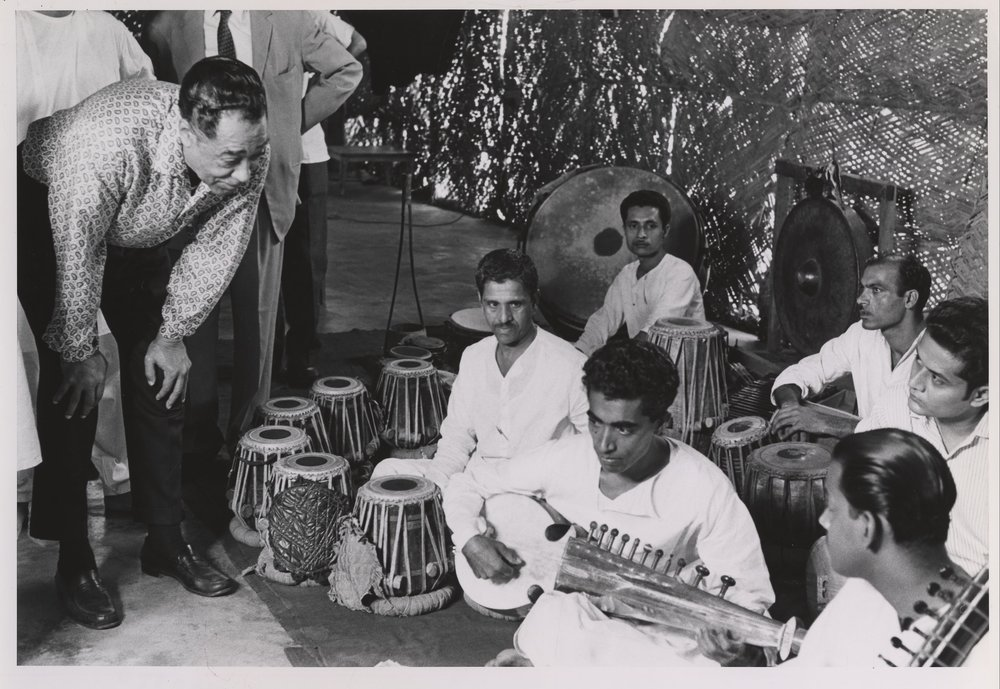 Duke Ellington listens to musicians in Pakistan, 1963. Credit: Courtesy of the Duke Ellington Collection, Archives Center, National Museum of American History, Smithsonian Institution