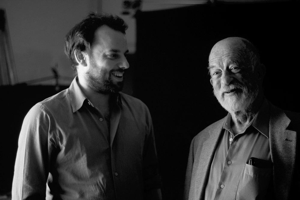 Director Hugo Berkeley and Bass Player Bill Crow.. Photo Credit: Henry Adebonojo