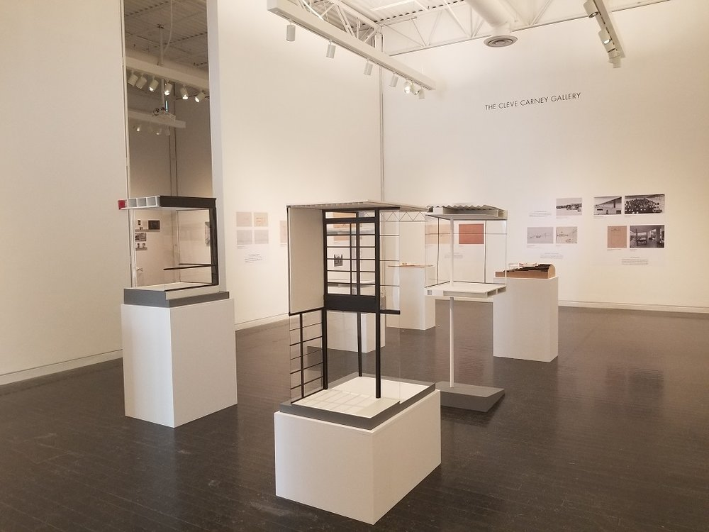 The Glass Houses portion of the NEW VIEWS exhibit