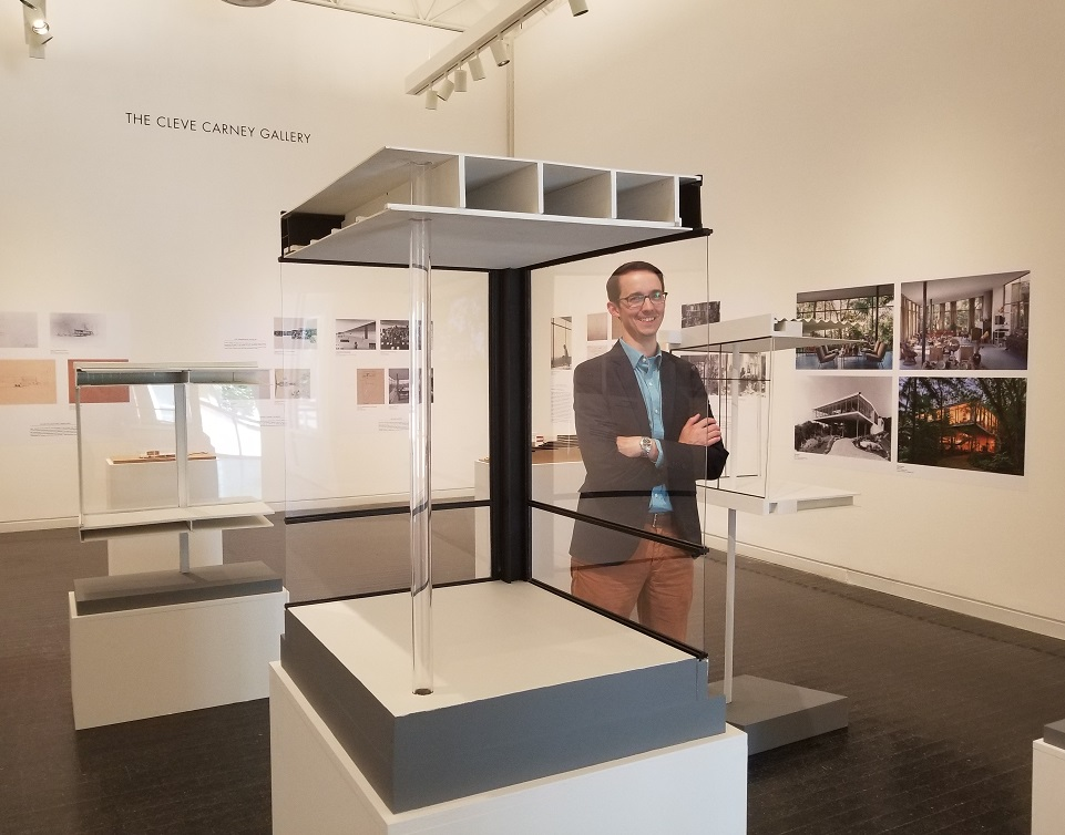 Elmhurst Art Museum executive director John McKinnon in NEW VIEWS exhibit