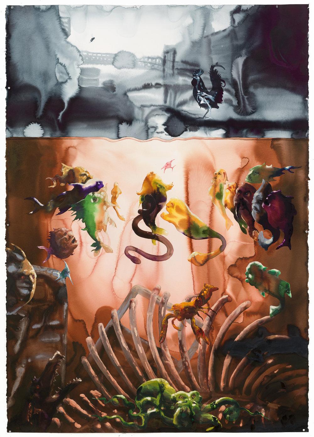 BUBBLY CREEK. Alexis Rockman, 2017