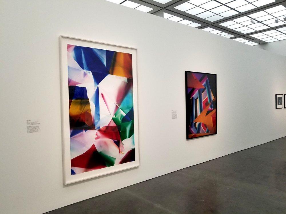 Works by Barbara Kasten and Walead Beshty