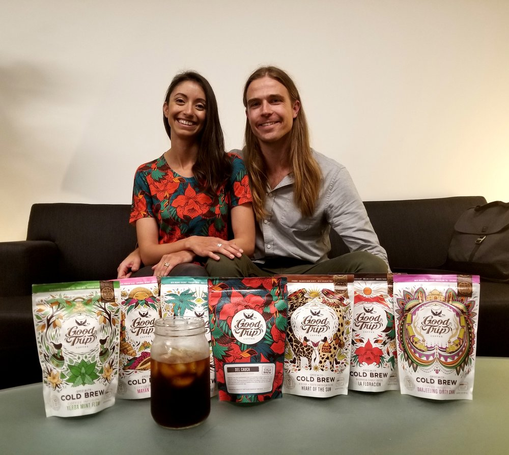 Angela and Andrew Oehlerking, founders/owners of Good Trip Coffee