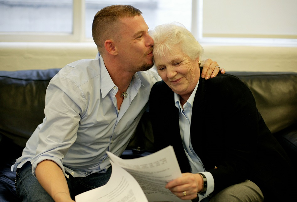 Alexander McQueen and his mom
