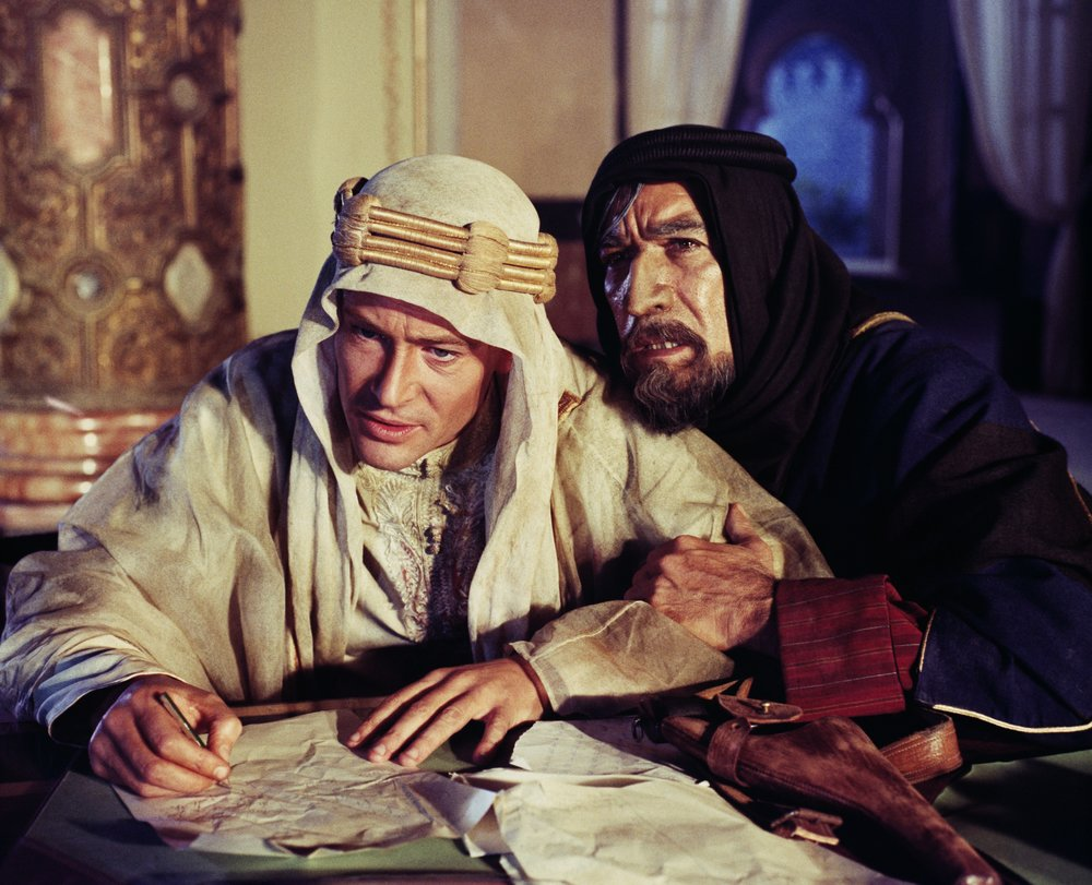 An image from LAWRENCE OF ARABIA, one of the movies being screened at the Music Box Theatre's 70mm Film Festival.