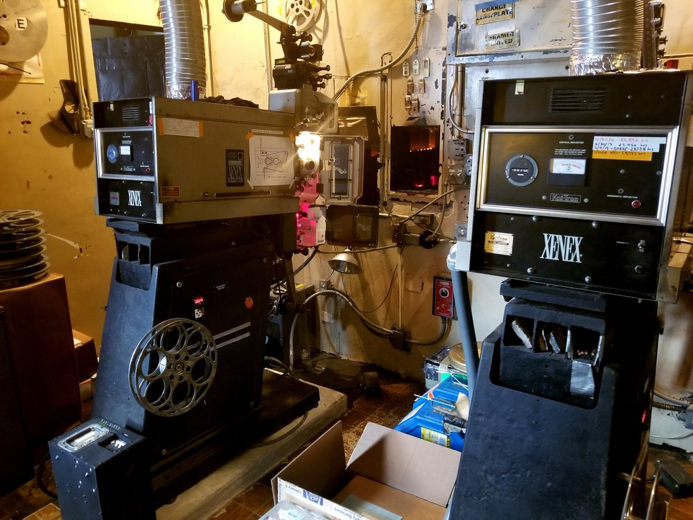 Inside the Music Box Theatre's projector room