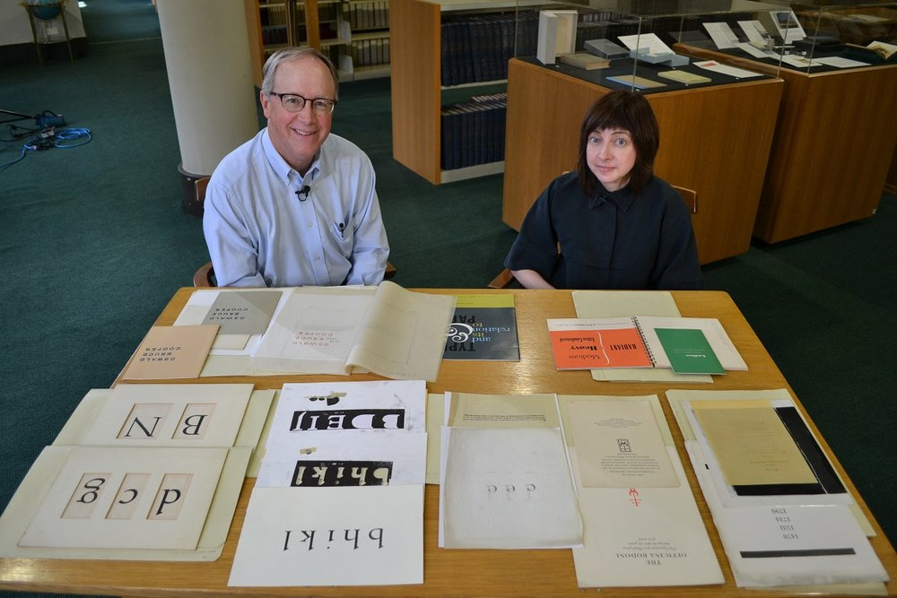 Designer Robert J. Zeni with typefaces designed by Robert Hunter Middleton